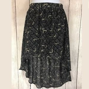 Forever 21 High Low Skirt Petite Small Black Brown